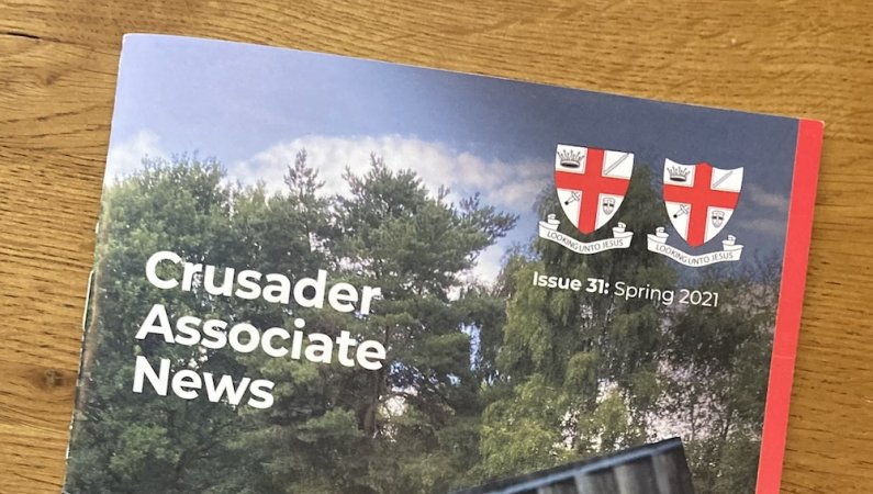Close up of the cover of the new Associate News magazine