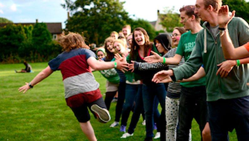 Young people enjoying the Urban Saints M + M Camp