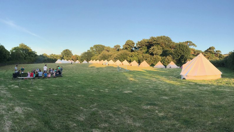 The campsite at Studland in Dorset