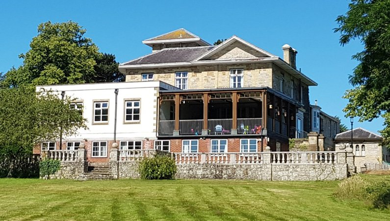 The main house at Urban Saints Westbrook - the residential centre on the Isle of Wight, England