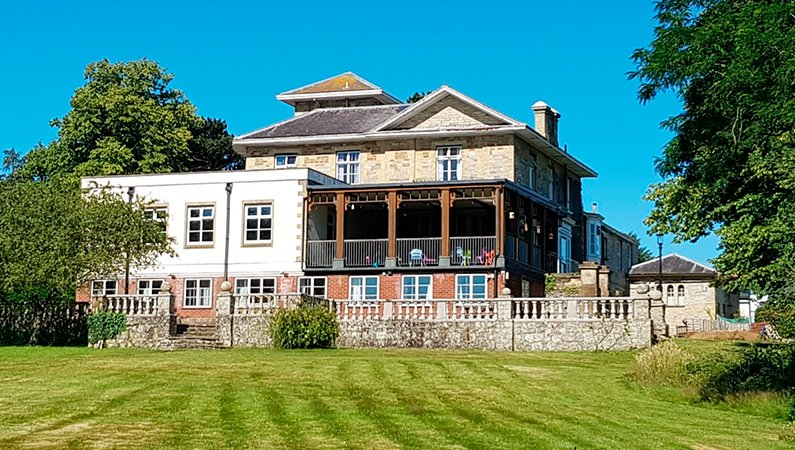 The main house at Westbrook